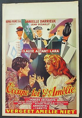 Occupe-toi d'Amelie - Danielle Darrieux Affiche 1949 Film Poster Plakat (Y-4600+
