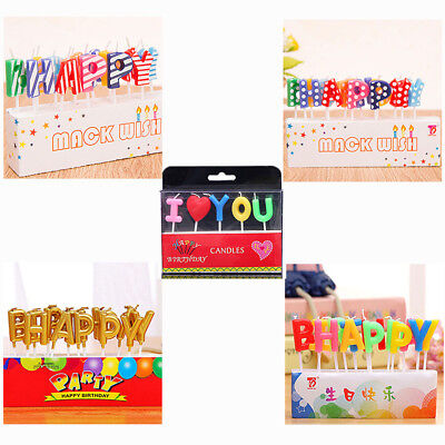 Birthday Candles Toppers Letter Birthday Party Cake Decoration Frozen Candles