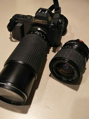 Original Canon T50 SLR Camera with 2 lenses
