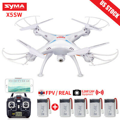 Drone Wifi FPV HD Camera RC Quadcopter Syma X5SW 2.4Ghz 6 Axis Gyro Helicopter