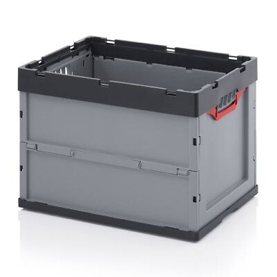 Professional Lid Box 60x40x42 Transport euro-faltbox Stacking Crates Folding