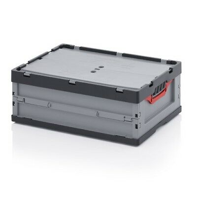Professional - tank collapse 60x40x22 m Lid Plastic crate stackable foldable