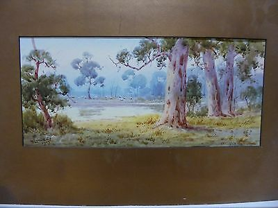 Original water colour by W Lindley 1929 Dora Creek