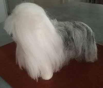 Ooak-  NEEDLE FELTED BY ME,, OLD ENGLISH SHEEPDOG  MADE WITH SOFT MERINO WOOL