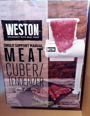 Weston Manual Cuber/Tenderizer Single Support Meat Grinder, New