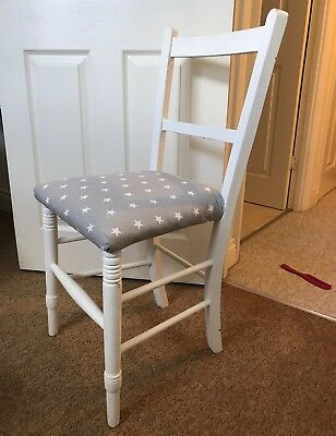 Grey Stars Nursery Chair Nursery Wooden Chair Baby's Room Chair For Nursery