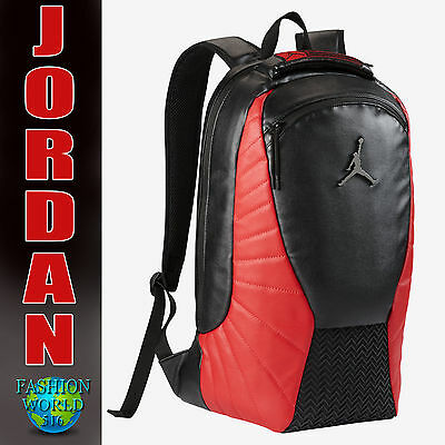 Nike Air Jordan RETRO 12 LAPTOP BACKPACK School Bag 9A1773-KR5  Black/Red