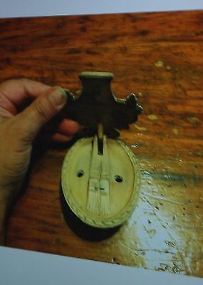 Antique HUBLEY #13  cast iron door knocker flower basket