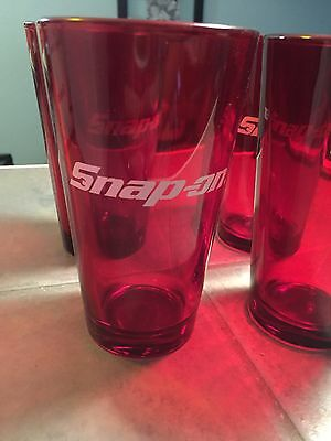 Snap On Drinking Glasses set of 4 New