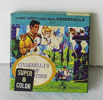 Cinderella's Fairy Godmother Super 8, Original Box, Walt Disney Home Movies VG+