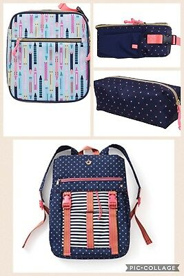 Matilda Jane A+ backpack With Coordinating Cat & Jack Lunch Box And Pencil Case