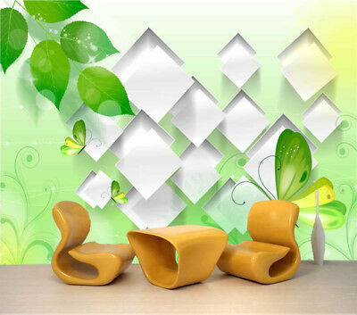 Comfortable Green  3D Full Wall Mural Photo Wallpaper Printing Home Kids Decor