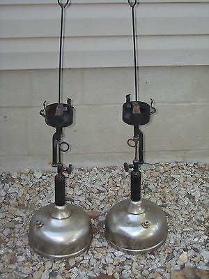 Antique Coleman  Quicklite 2 Gas Lamps From The Early 1900's