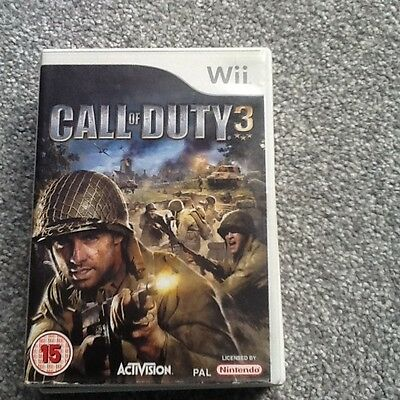 Nintendo Wii Game_Call Of Duty 3 + Manual