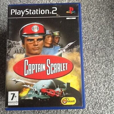 Playstation 2 Game_Captain Scarlet + Manual