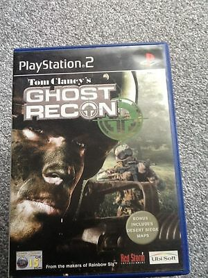 Playstation 2 Game_Tom Clancy's Ghost Recon + Manual