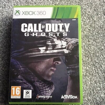 Xbox 360  Game_Call Of Duty : Ghosts..no Manual
