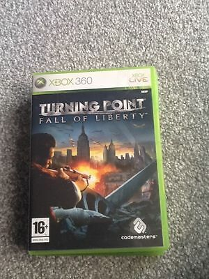 Xbox 360  Game_Turning Point : Fall Of Liberty + Manual