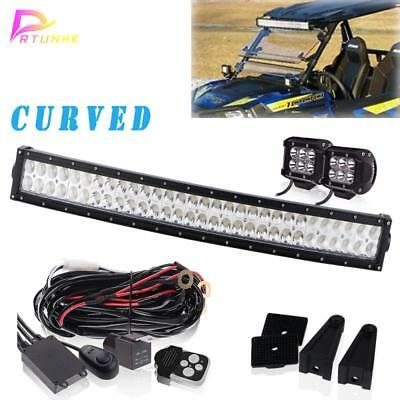 "For POLARIS RZR XP 900&1000 Curved 30-32"" 180W LED Light Bar wiring kit"
