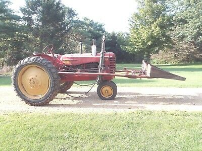 """Antique 1951 Massey Harris 30 Farm Tractor With Rare Loader """"runs Great"""" Vintage"""