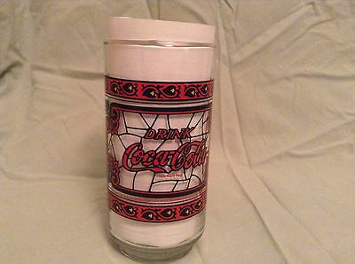 Vintage Coca Cola McDonald's Stained Glass glasses - set of 3