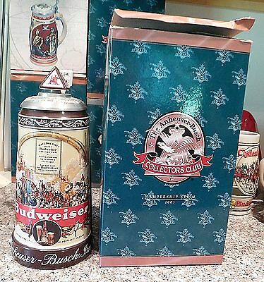 Anheuser Busch Collectors Club 2003 Membership Stein Historical Advertising 1936