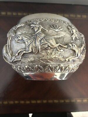 "Indian Silver Repousse Bowl - 3.5"" Deccan"