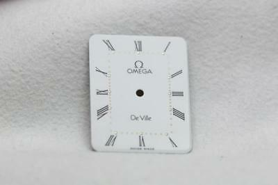 Genuine Omega White Gloss De Ville Watch Dial - 20 x 25.7mm New Old Stock