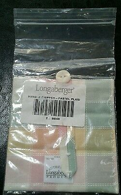 Longaberger Handle Gripper Pastel Plaid Easter Spring Baby 2249848 NEW IN PACK