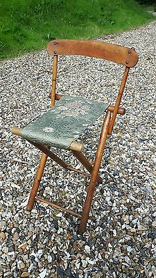 Campaign Folding Chair - Fabric Seat