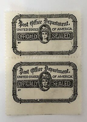 USA Official Seal Stamp Pair U/Mint See Pics