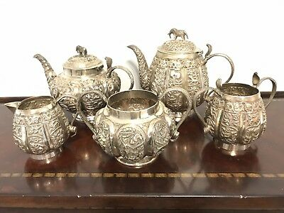 Fabulous Indian Silver Tea Set -Lucknow