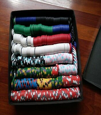 500 Poker Chips Army Navy and More -Used