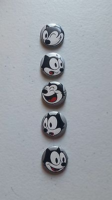 5 Felix The Cat Button Covers