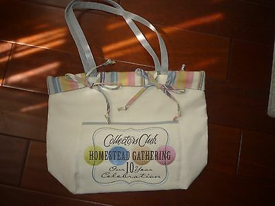 Longaberger Homestead Tote Bag, Collectible