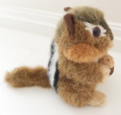 "Stuffed Animal House Chipmunk Named Peanut W Acorn 6"" Toy Plush"