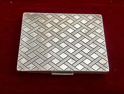 Sterling Silver Pill Box- Trinket Box. Large Rectangle shape Hallmarked