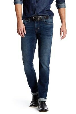 Hudson Men's Blake Slim Straight Leg Jean Color Kenton Size 34.