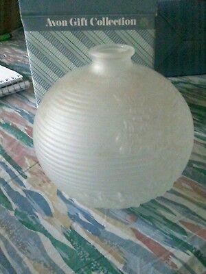 Avon Frosted Bud Vase White Avon Gift Collection--New--Ships In 1 Day