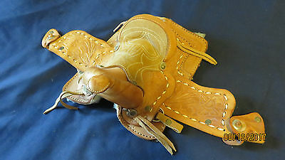 Handmade Genuine Leather Small/Mini Display Saddle 7M Made in Mexico