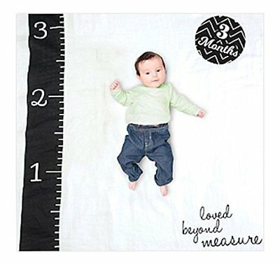 lulujo Baby Baby's First Year Milestone Blanket and Cards Set, Loved Beyond