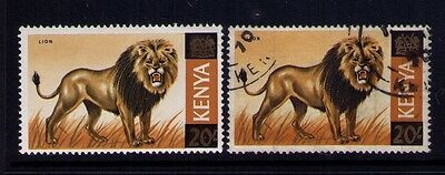 Kenya Stamp ,Wildlife Lion Sc# 35 x 2,MH and Used,CV:$25