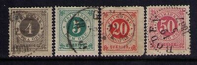 Sweden Stamps SC# 42//48 Selection Used