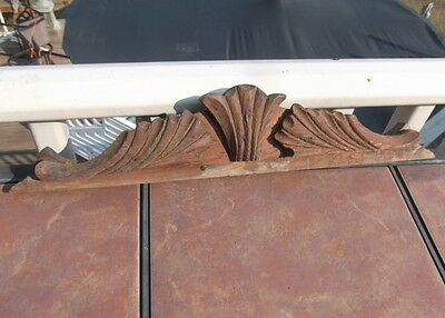 Vintage Oak Pediment or Mirror Topper