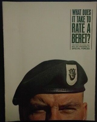 Vintage 1960s Special Forces Green Beret Military Recruiting Ad Magazine
