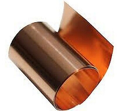 "Copper Sheet .016"" Thick - 12oz - 26 Ga - 6""x60"" - FREE 48 STATE SHIPPING"