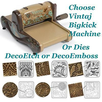 Vintaj Special Edition Sizzix Bigkick DecoEmboss DecoEtch Dies Machine or Acce's
