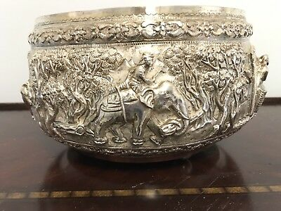 Museum Quality Burmese Silver Bowl