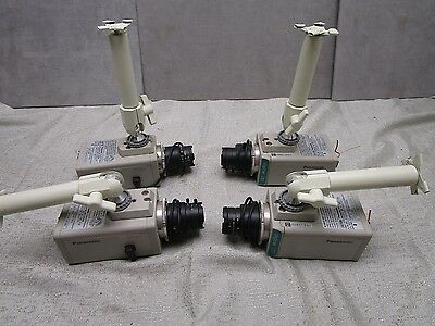 Panasonic WVCP234 Cameras Color CCTV with Computar 3.5-8mm Lens Lot of 4