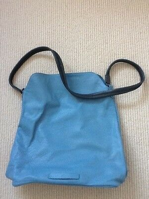 Elk blue leather handbag New